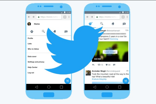 twitter lite PWA screenshot