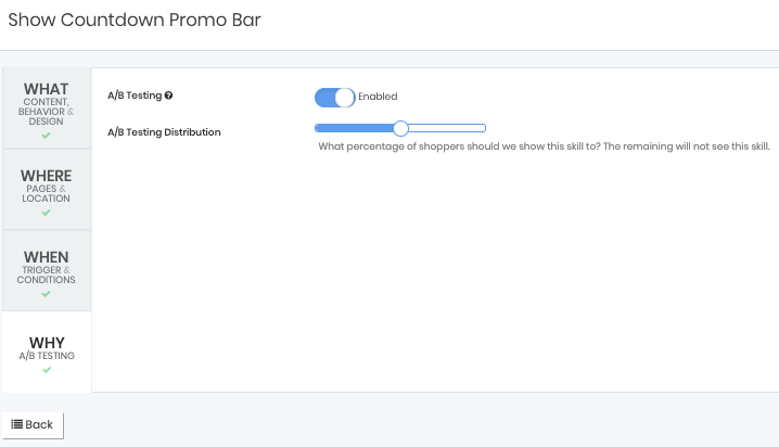 why menu bar for promo bar