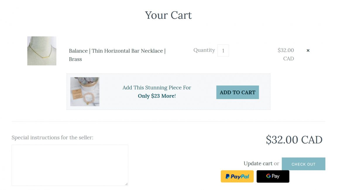 social proof and recommended products in the cart