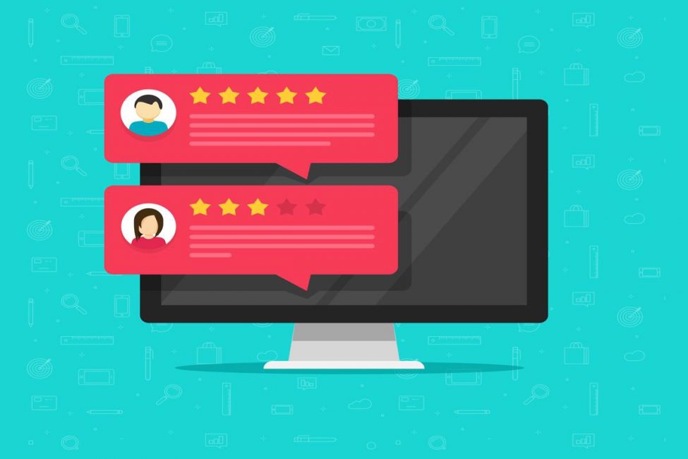 illustration of testimonials for ecommerce