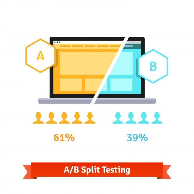 increasing conversions with a/b slit testing