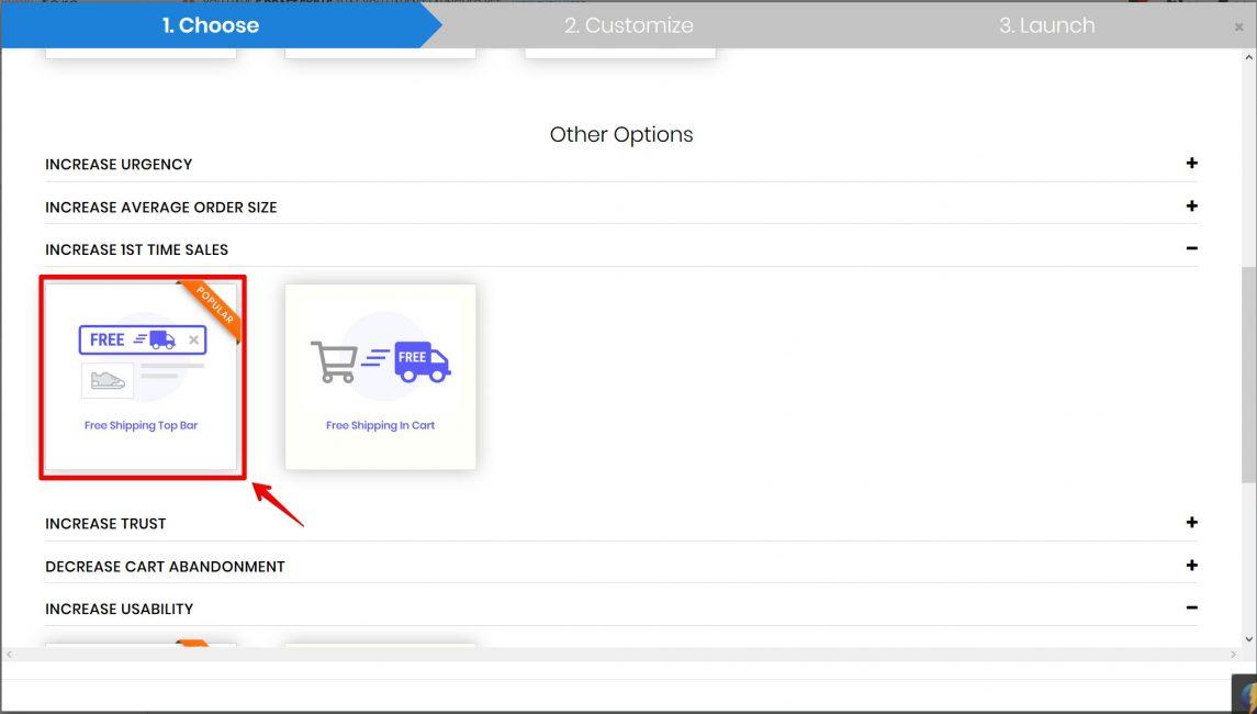 Show Free Shipping Top Bar - Urgency Shopify