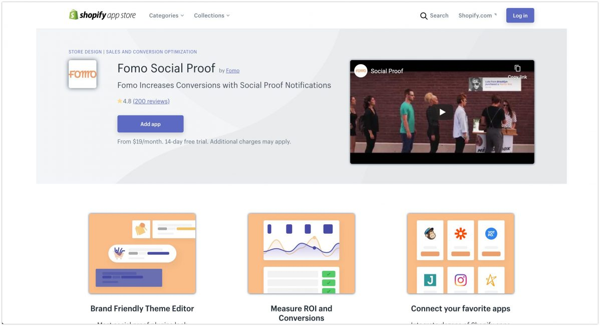 Fomo Social Proof – Ecommerce Plugins for Online Stores – Shopify App Store 2020