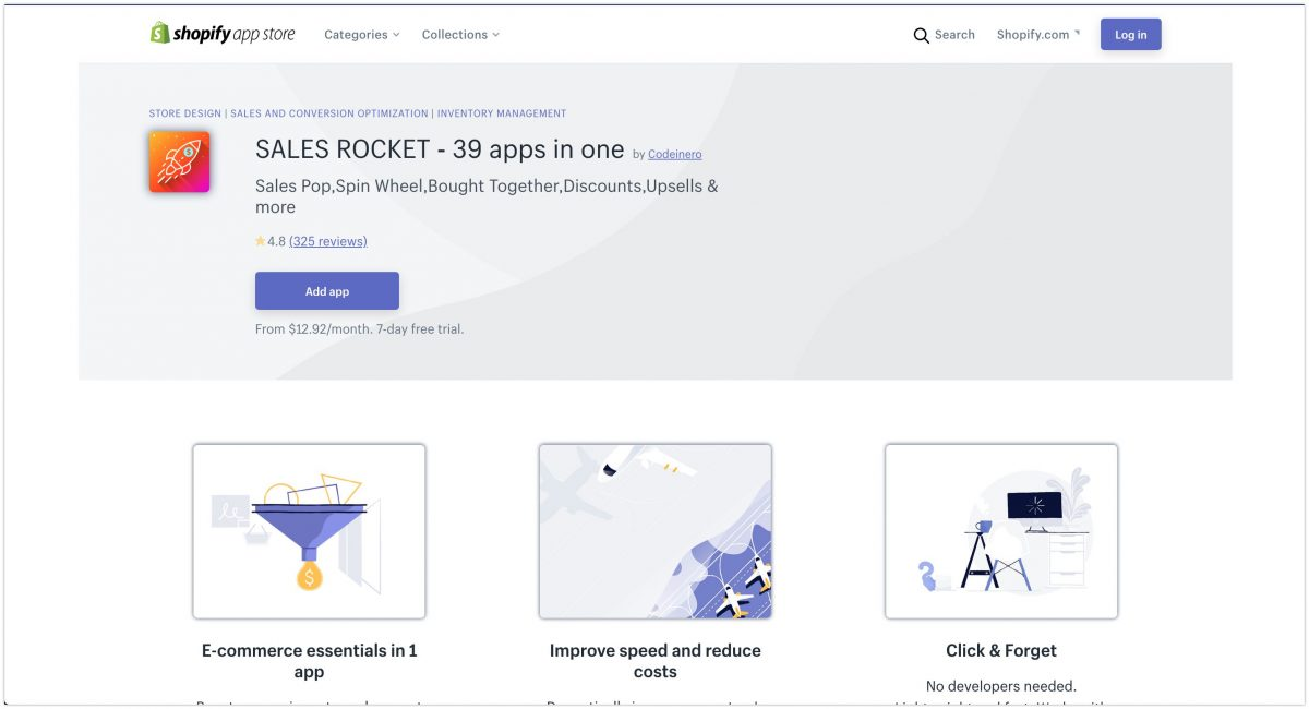 SALES ROCKET ‑ 39 apps in one Shopify App Store 2020