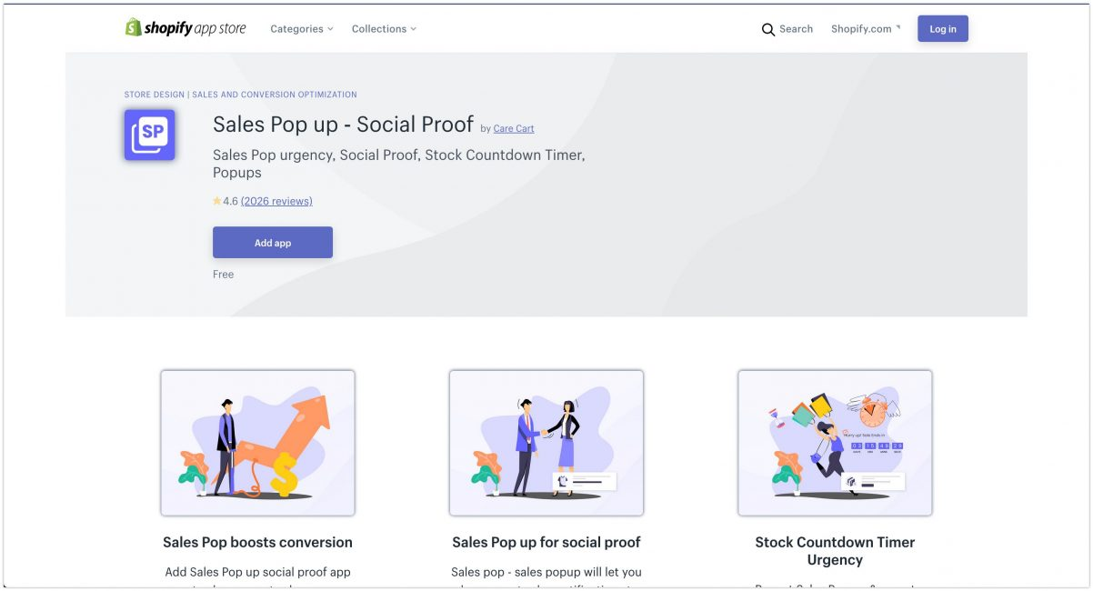 Sales Pop up ‑ Social Proof – Ecommerce Plugins for Online Stores – Shopify App Store 2020 Listing