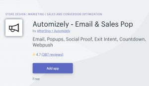 best social proof apps automizely