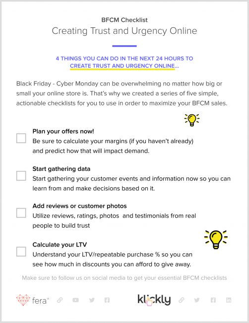 how to build trust and urgency online checklist