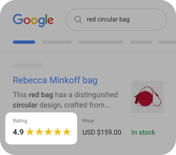 product review stats google ratings average rating badge